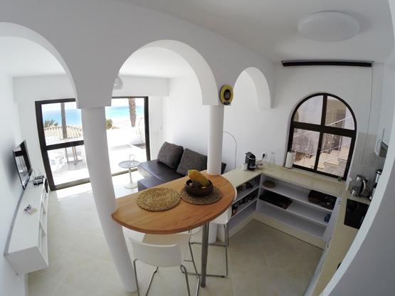 Wohnzimmer mit Meerblick Ferienwohnung Fuerteventura
