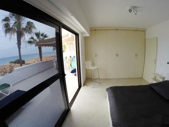 Schlafzimmer Meerblick Ferienappartement Fuerte