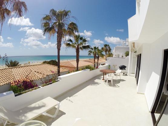 Terrasse Meerblick Ferienappartement Fuerteventura